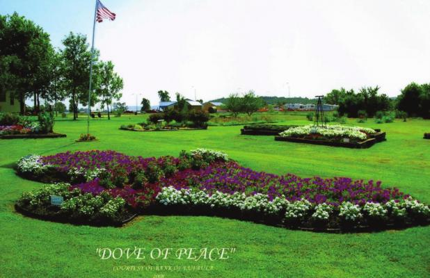 Bank of Eufaula's Dove of Peace ready to come back to life at Inspiration Garden. COURTESY