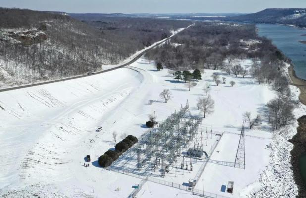 Great dam aerial snow pictures